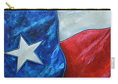 Red White And Texas Carry-all Pouch by Patti Schermerhorn