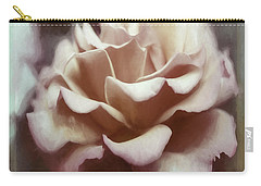 Carry-all Pouch featuring the photograph Red White Rose by Jean OKeeffe Macro Abundance Art