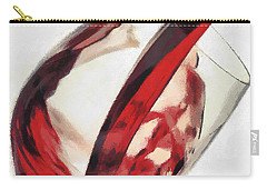 Red Wine  Into Wineglass Splash Carry-all Pouch