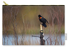 Red Winged Blackbird 2 Carry-all Pouch