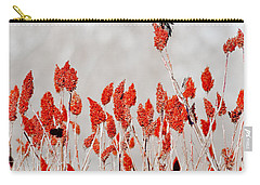 Red Winged Blackbird On Sumac Carry-all Pouch