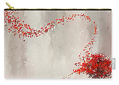 Red Winter Carry-all Pouch by Lourry Legarde