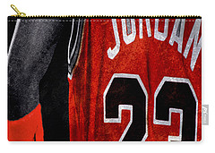 Carry-all Pouch featuring the digital art Red Wrist Band by Brian Reaves
