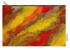 Red Yellow Gold Abstract Carry-all Pouch