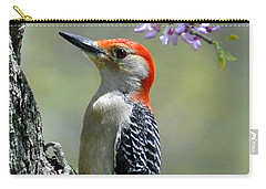 Redbud With Woodpecker Carry-all Pouch