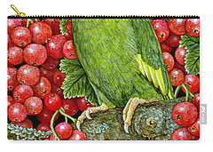 Redcurrant Parakeet Carry-all Pouch by Ditz