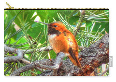 Redheaded Hummingbird II Carry-all Pouch