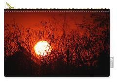 Carry-all Pouch featuring the photograph Redorange Sunset by Matt Harang