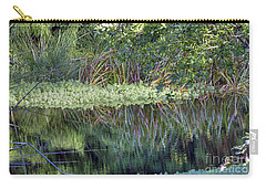 Carry-all Pouch featuring the photograph Reed Reflections by Kate Brown