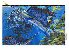 Reef Frenzy Off00141 Carry-all Pouch by Carey Chen