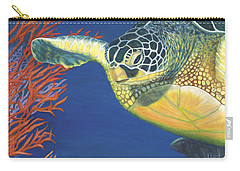 Carry-all Pouch featuring the painting Reef Rider by Karen Zuk Rosenblatt