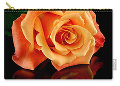 Reflected Rose Carry-all Pouch by Jim Hughes
