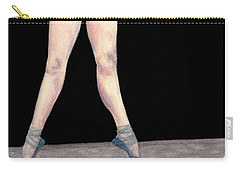 Carry-all Pouch featuring the painting Reflection En Pointe by Dee Dee  Whittle