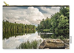 Carry-all Pouch featuring the photograph Reflection Lake In New York by Debbie Green