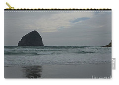 Carry-all Pouch featuring the photograph Reflection Of Haystock Rock  by Susan Garren