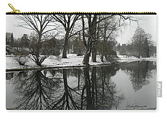Carry-all Pouch featuring the photograph Reflection Pond Spring Grove Cemetery by Kathy Barney