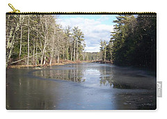 Reflections Caught On Ice At A Pretty Lake In New Hampshire Carry-all Pouch