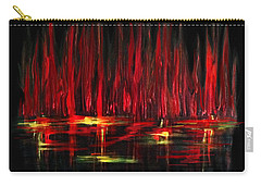 Reflections In Red Carry-all Pouch by Dani Abbott