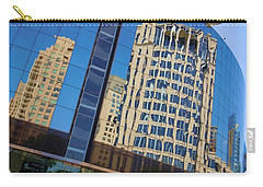 Carry-all Pouch featuring the photograph Reflections In The Rolex Bldg. by Robert ONeil