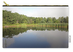 Carry-all Pouch featuring the photograph Reflections Of A Still Pond by Michael Porchik