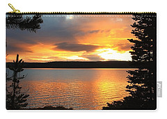 Reflections Of Sunset Carry-all Pouch by Athena Mckinzie