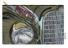 Carry-all Pouch featuring the painting Reflections On 1931 Alfa Romeo Milano by Anna Ruzsan