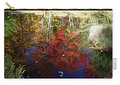Carry-all Pouch featuring the photograph Reflections On Algonquin by David Porteus