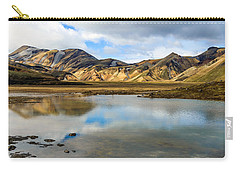Reflections On Landmannalaugar Carry-all Pouch