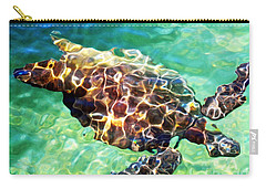 Carry-all Pouch featuring the photograph Refractions - Nature's Abstract by David Lawson