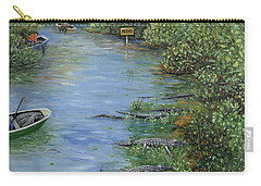Carry-all Pouch featuring the painting Refuge? by Karen Zuk Rosenblatt