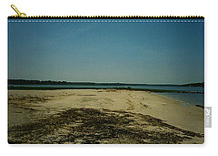 Carry-all Pouch featuring the photograph Rehoboth Bay Beach by Amazing Photographs AKA Christian Wilson