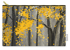 Rejuvenating Elements- Yellow And Gray Art Carry-all Pouch