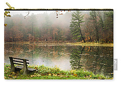 Carry-all Pouch featuring the photograph Relaxing Autumn Beauty Landscape by Christina Rollo