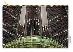 Renaissance Center Detroit Michigan Carry-all Pouch by Nicholas  Grunas