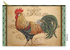 Renaissance Rooster-a-green Carry-all Pouch