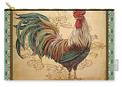 Renaissance Rooster-d-green Carry-all Pouch by Jean Plout