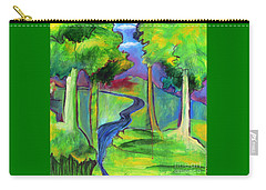 Rendezvous Triptych Carry-all Pouch by Elizabeth Fontaine-Barr