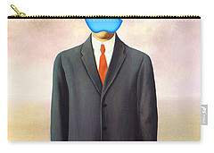 Rene Magritte Son Of Man Apple Computer Logo Carry-all Pouch by Tony Rubino