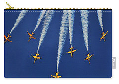 Carry-all Pouch featuring the photograph Republic Of Korea Air Force Black Eagles by Science Source