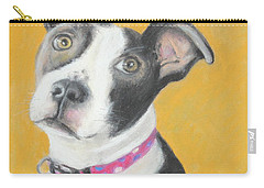 Rescued Pit Bull Carry-all Pouch by Jeanne Fischer
