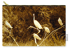 Resting Flock Sepia Carry-all Pouch
