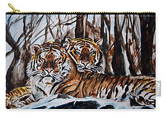 Carry-all Pouch featuring the painting Resting by Harsh Malik
