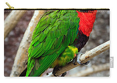 Carry-all Pouch featuring the photograph Resting Lory by Sennie Pierson