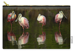 Resting Roseates Carry-all Pouch by Myrna Bradshaw