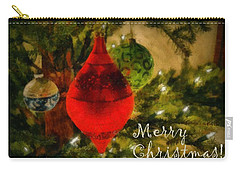Retro Christmas Carry-all Pouch by Michelle Calkins