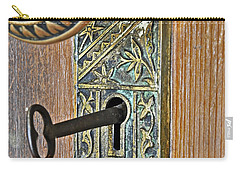 Retro Intricate Door Knob And Metal Key Art Prints Carry-all Pouch