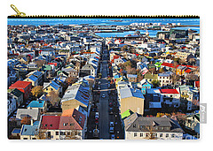Reykjavik Cityscape Panorama Carry-all Pouch