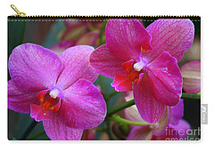 Carry-all Pouch featuring the photograph Rhapsody In Purple - Orchids by Dora Sofia Caputo Photographic Art and Design