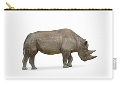 Carry-all Pouch featuring the photograph Rhinoceros by Charles Beeler