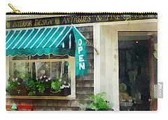 Rhode Island - Antique Shop Newport Ri Carry-all Pouch by Susan Savad
